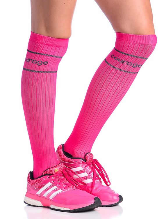 Compression Socks with Heart & Courage | High Performance Women's Triathlon Clothing, Running and Cycling Gear | Coeur Sports