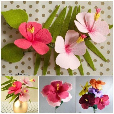 Como Fazer Flor De Hibisco Passo A Passo Com Imagens Flores De