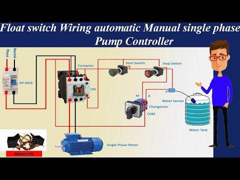 Float Switch Wiring Automatic Manual Single Phase Water Pump Controller Water Pump Youtube In 2020 Water Pumps Float Switch