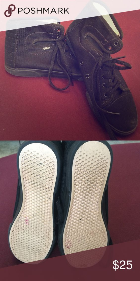 Vans high tops Black high tops Vans Shoes Athletic Shoes