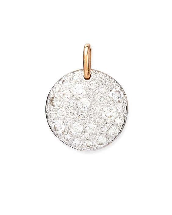 Sabbia 18k Rose Gold Diamond Pendant Charm - Pomellato