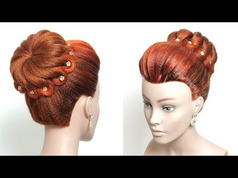 Quick Easy Bun Hairstyle For Party Simple Updo Youtube Hair Styles Easy Hairstyles Long Hair Styles