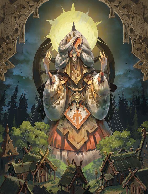 ArtStation - Slavic Goddess Mokosh, Ekaterina Chesalova