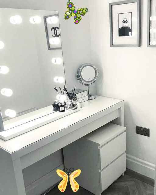 Malm Dressing Table White Ikea Br In 2020 White Dressing Tables Malm Dressing Table Dressing Room Decor