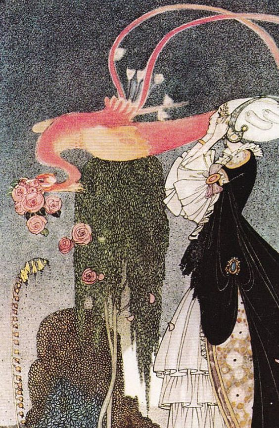 fine art print Kay Nielsen vintage illustration folk tale fairy tale home decor Rosanie or the Inconstant Prince 8.5x11.5 inches