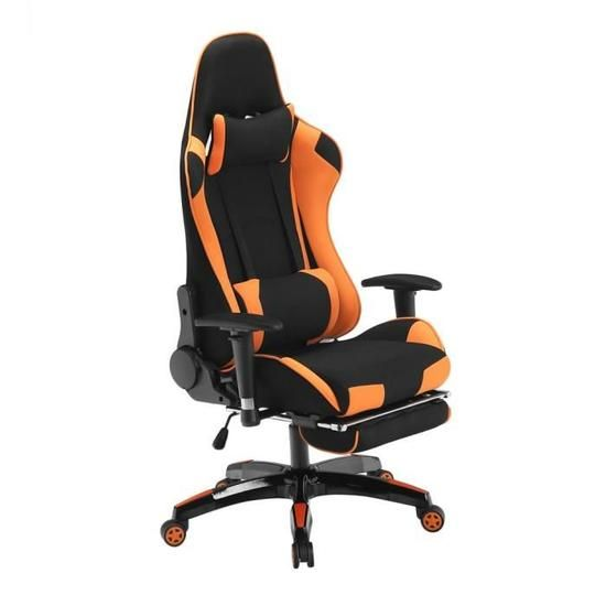 Fauteuil Gamer Avec Repose Pieds Tissu Chaise De Jeu Siege Gaming Outad Inclinable 180 Orange Fauteuil Fauteuil De Bureau Blanc Repose Pieds