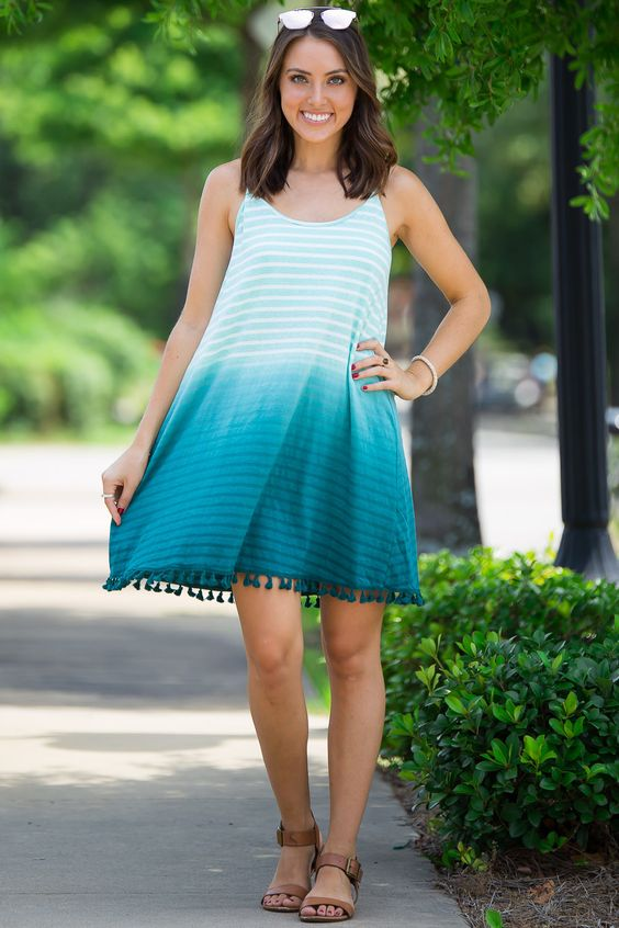 SALE- Faded Away Dress-Teal