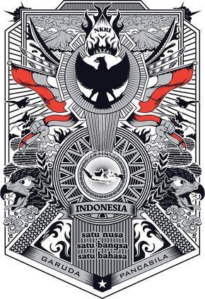 Garuda Vector Art : garuda, vector, Garuda, Pancasila, Indonesian