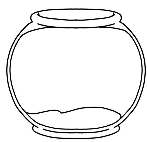 Empty Fish Bowl Coloring Page 1000 Ideas About Fishbowl On Pinterest