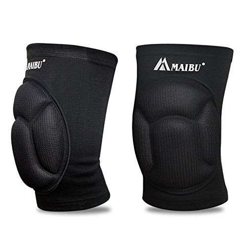 Maibu Protective Knee Pads Thick Sponge Anti Collision Kneepads Protector Non Slip Wrestling Dance Volleyball Knee Pads Support Sleeve For Outdoor Sport 1 Pair Volleyball Knee Pads Volleyball Fresh Shoes