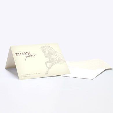 Equestrian Love Thank You Card