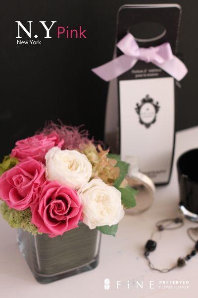 preserved flower N.Y pink http://item.rakuten.co.jp/fine-flower/ag181/ プリザーブドフラワー