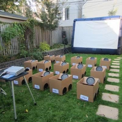 12. Take your garden party to nest level by hosting your very own american style drive-in cinema theme