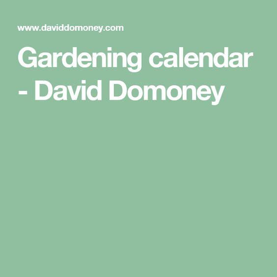 Gardening calendar - David Domoney
