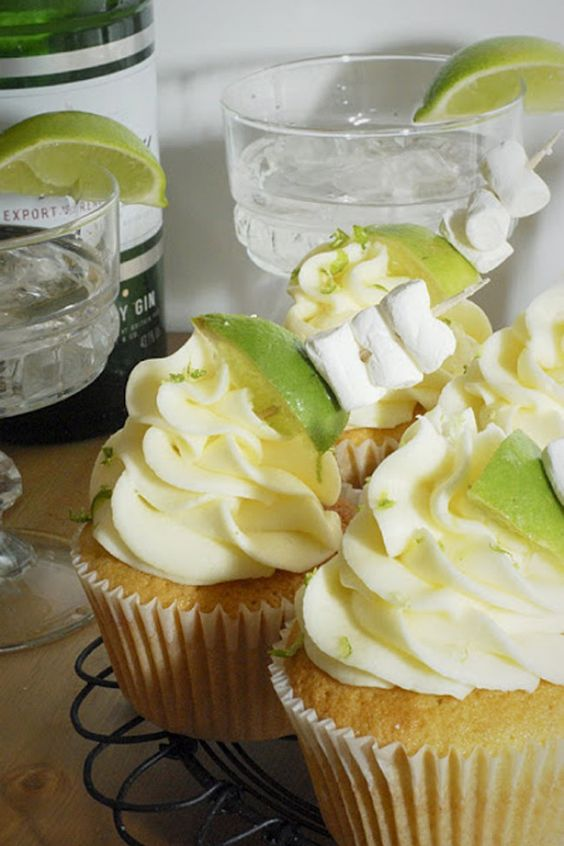Top 10 Gin And Tonic Cake Recipes You Need In Your Life: Gin and Tonic Cupcakes