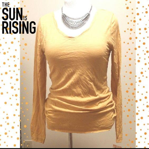 Mustard Long Sleeve V-neck T-SHIRT Mustard Long Sleeve T-shirt. New with tags. Make an offer. No trades. Mudd Tops Tees - Long Sleeve