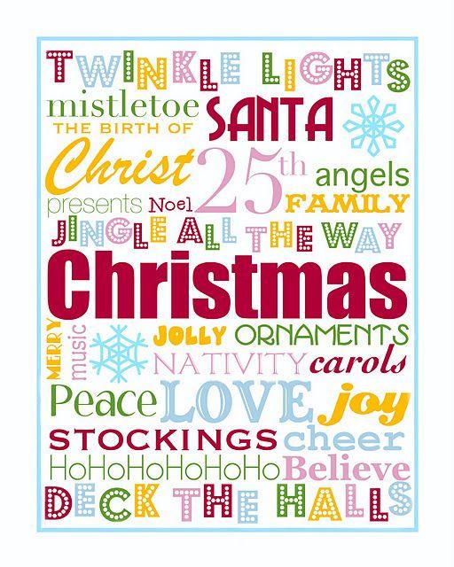 printable christmas poster