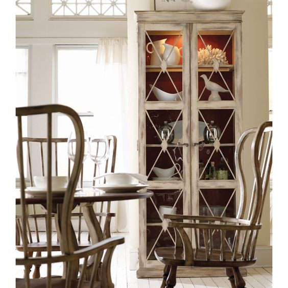Hooker Furniture Sanctuary Two-Door Thin Display Curio Cabinet -