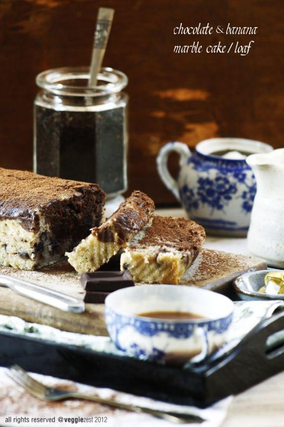 Chocolate & Banana Marble Cake