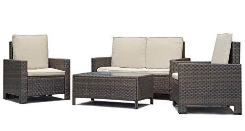 Ana Store Stylish Black Rattan Porch Dinner Set Of 4 Rectangle