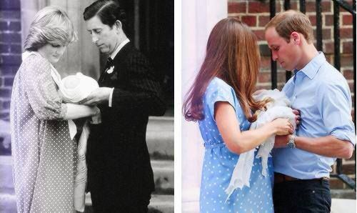 1982: Prince Charles & Princess Diana with Baby Prince William 2013: Why are they  doing the same thing? is everything pre-planned?