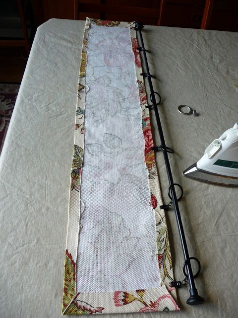 Curtains Ideas adhesive curtain rod : Hang a valance without a curtain rod --use adhesive Velcro and ...