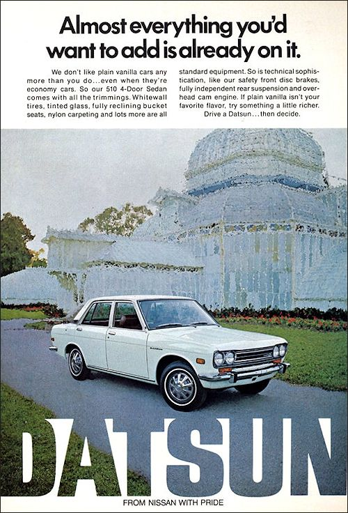 Datsun Nissan 1972 Datsun Nissan Datsun 510