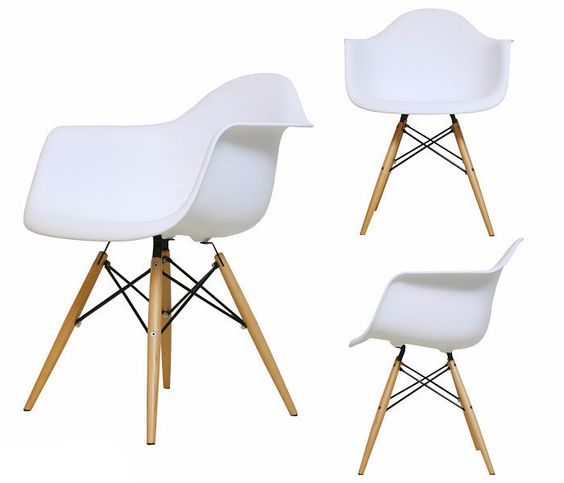 White Eames style tub chair