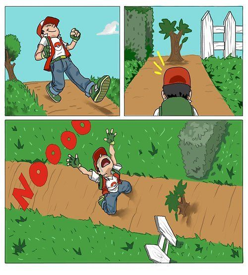 """Exactly! Whenever I came to a tree without cut I would be like, """"Can't my pokemon just trample it or something?"""""""