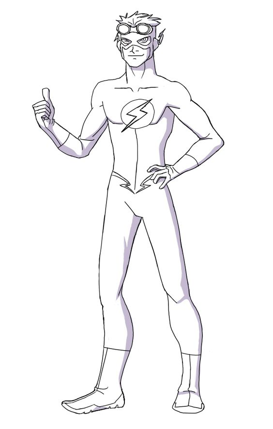 Reverse Flash Coloring Pages