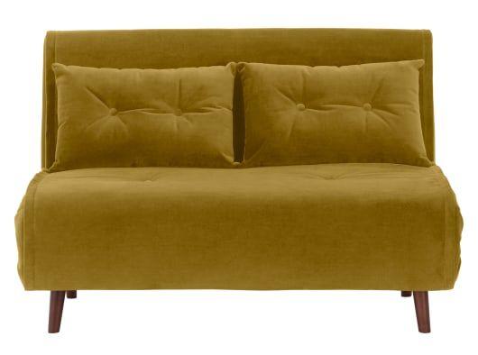 Haru Large Double Sofa Bed Vintage Gold Velvet In 2020 Goldenes Sofa Sofa Bett Single Couch