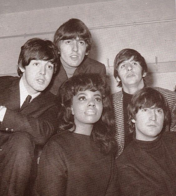 9th October 1964. The Beatles and Mary Wells backstage at the Gaumont Cinema, Bradford