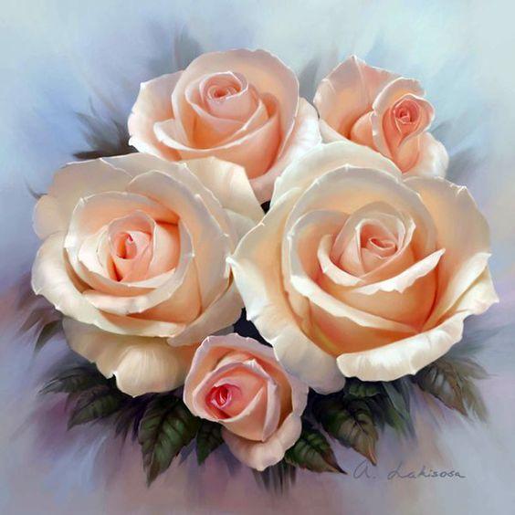 Roses by Anna Lakisova:
