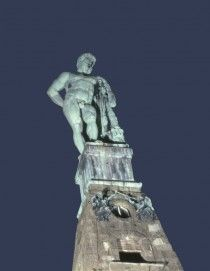 The Hercules monument is the landmark of Kassel and is enthroned on the octagon in Wilhelmshöhe Mountain Park.
