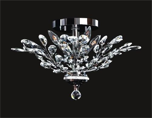 Tree Of Crystal Flush Mount Clear Mx42054 4c Low Ceiling
