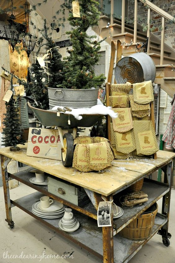 The Endearing Home — Restyle, Repurpose, Reorganize - if i ever find a rusty wheel barrel love this idea