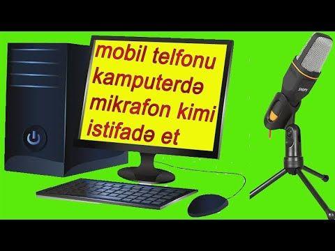 Womic Proqram I Ile Telfon U Kamputer E Mikrafon Evezi Qosmag Youtube Computer Monitor Electronic Products Electronics