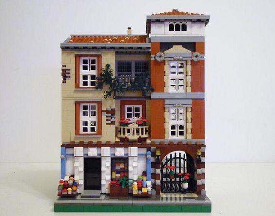 Lego Asia: Spanish Modular (green grocer) Street