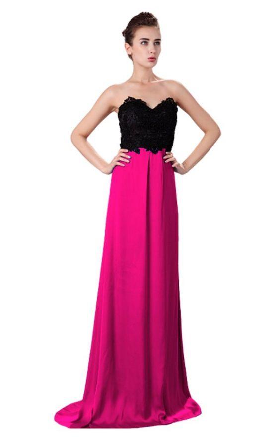 Unique Fabulous Embellished Lace  Satin Maxi Evening Gown Dress