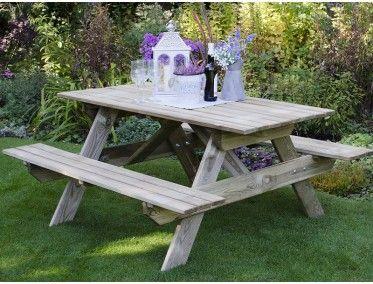 Forest Garden Rectangular Picnic Table Picnic Table Garden Table Wooden Garden Table