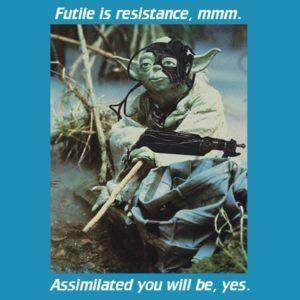Another Star Alliance melange.: Wars Trek, Star Wars, Melange Borg, Trek Yoda, Borg Yoda, Star Trek, Yoda Borg