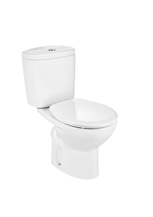 Inodoro Completo Con Salida Horizontal Incluye Taza Cisterna Con Alimentación Inferior Y Tapa Amortiguada Inodoros De Tanque Bajo Ino Inodoro Taza Baños