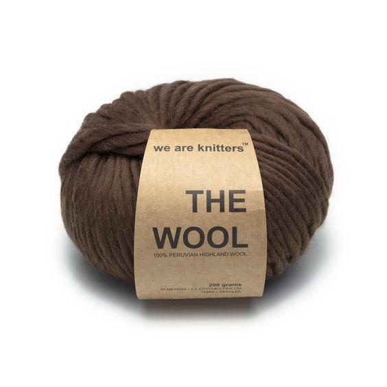 Farbe: #Braun Die #Wolle ist zu 100% aus #Schafwolle aus Peru und erhält dadurch seine besondere Qualität: 100% Schafwolle aus Peru 200 gr Knäuel; 80 m Länge für eine Nadelstärke ab 10mm geeignet www.weareknitters.com/de