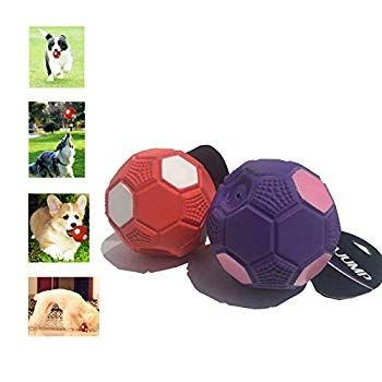 Senlvhuwai Dog Toys Squerky Football Made Of Natural Rubber Safe