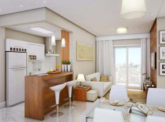 decoracao moveis branco:Madeira, Apartamento estilo estúdio and Mesas on Pinterest