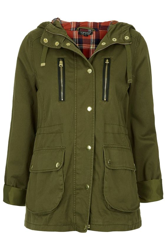Hooded Lightweight Parka - Jackets & Coats - Clothing - Topshop