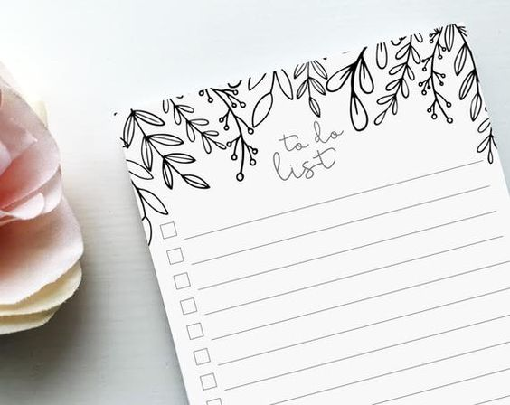 To Do List Notepad | Cute Floral Notepad | Lined To Do List | Doodle Notepad for Coloring | Teacher