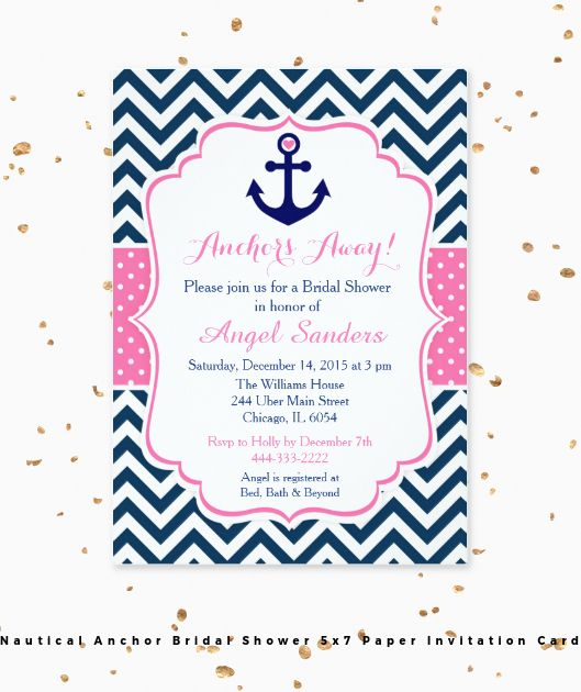 This Nautical Anchor design is perfect for a Bridal Shower! I have coordinating items in my store. Original design by KlouiseDigiParty.