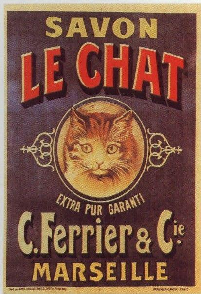 Vintage Le Chat Savon: