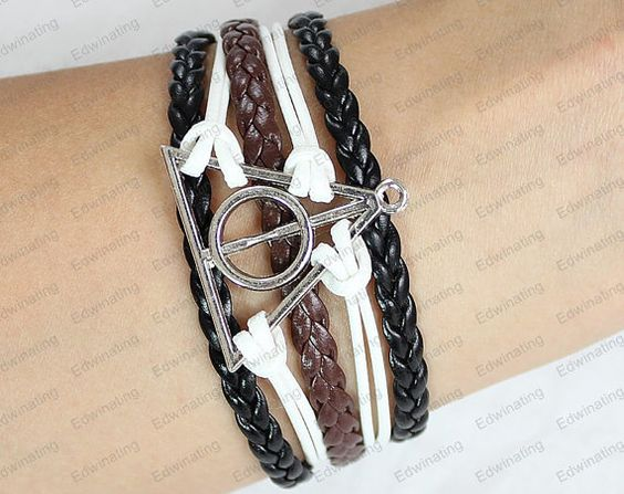 Deathly Hallows Bracelet Harry Potter by lifesunshine on Etsy, $5.99